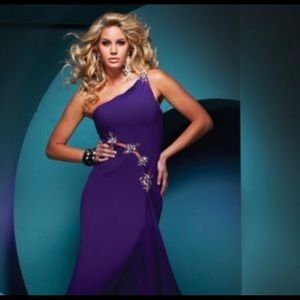 Tony Bowls Paris Purple One Shoulder
